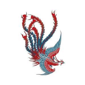 祭化粧 R195 赤鳳凰(17.5cm x 10cm)|komomoshop