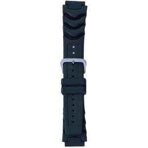 BAMBI バンビ 時計バンド ウレタン 黒 18mm 美錠 シルバー BG400A-P|komomoshop