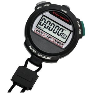 [クレファー]CREPHA デジタルストップウォッチ 3気圧防水 カウントダウン計測 ブラック TEV-4013-BK|komomoshop