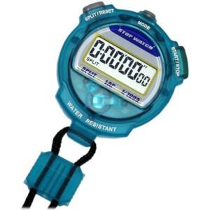 [クレファー]CREPHA デジタルストップウォッチ 3気圧防水 カウントダウン計測 クリアブルー TEV-4013-BL|komomoshop