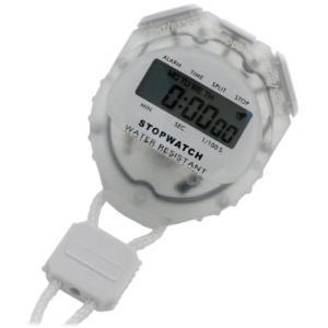 [クレファー]CREPHA デジタルストップウォッチ 日常生活防水仕様 クリア TCE-2056-WT|komomoshop