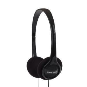 Koss KPH7 軽量ポータブルヘッドフォン ブラック 並行輸入品|komomoshop