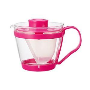 iwaki(イワキ) 耐熱ガラス ティーポット レンジのポット 茶器 もも色 400ml K863-P|komomoshop