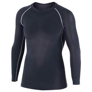 おたふく手袋 ボディタフネス 冷感・消臭 パワーストレッチ 長袖 クルーネックシャツ メンズ JW-623 ブラック L|komomoshop