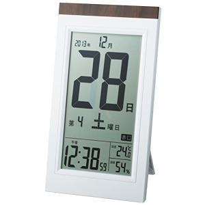 ADESSO(アデッソ) 目覚まし時計 日めくり 電波時計 六曜 温度 湿度 日付表示 記念日設定機能付き 置き掛け兼用 ホワイト KW9254|komomoshop