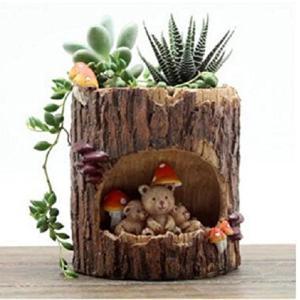 Youfui 可愛い 動物 植木鉢 プランターデザイン小物 フラワーポット DIY 飾り おしゃれ 多肉植物 寄せ植え 鉢 収納スタンドにも|komomoshop