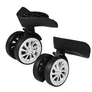 荷物 スーツケース ホイール 交換ホイール キャスター取替え 耐摩耗 360度回転 静か スムース DIY 修理 代用品 車輪部品|komomoshop