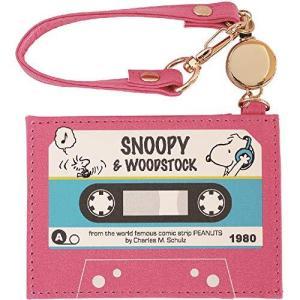 デルフィーノ PEANUTS スヌーピー フラットパスケース カセットテープ P-13344|komomoshop