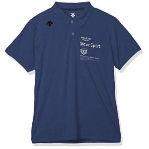 [デサント] サンスクリーン ポロシャツ MOVE SPORT 吸汗速乾 ストレッチ UVカット(UPF50) メンズ DMMPJA73 ネイビー杢|komomoshop