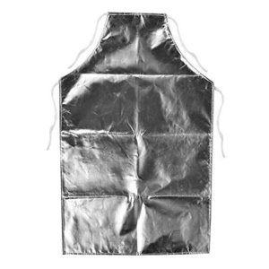 Delaman 耐熱エプロン 溶接用 1000度 耐熱性 アルミホイルエプロン 高温作業用エプロン|komomoshop