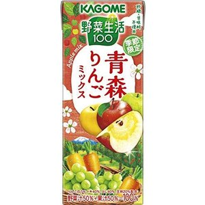 カゴメ 野菜生活100青森りんごミックス 195ml ×24本|komomoshop