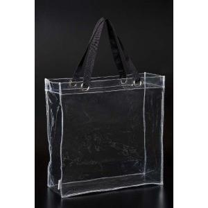透明ビニールバッグ クリア 防水 トート 痛バッグ 痛バ プールバッグ ミニトート 無地 CB-4040