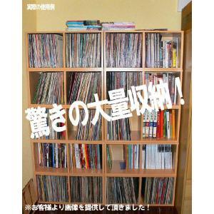 レコードボックス レコードラック バイナルボックス 2段 3 色(黒・白・木目)