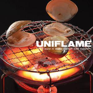 ユニフレーム 665817 ミニロースタ− 丸型 バーナーパット キャンプ/野外料理用 バーベキュー/BBQ用|kompas