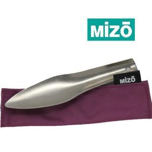 ミゾー MIZ003 モグ ケース付き ミニスコップ トイレスコップ 山用シャベル 穴掘り用 山菜採り トイレ用 ミミズ取り用 チタン製|kompas