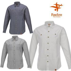 フォックスファイヤー シャツ メンズ/男性用 FXF5212634 SCシャンブレーシャツL/S 長袖シャツ スコーロン 山シャツ 吸汗速乾 防虫|kompas