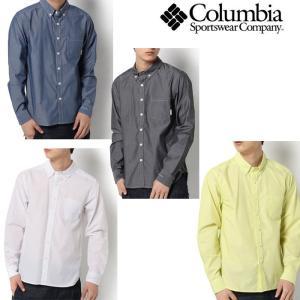 コロンビア シャツ メンズ/男性用 PM7936 シティパークロングスリーブシャツ City Park Long Sleeve Shirt 長袖シャツ 吸水速乾 カジュアルウェア|kompas