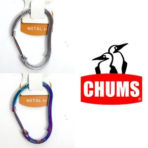 チャムス メタルeバイナーMアクセサリーカラビナ CH61-0122 Metal eBiner M シルバー レインボー|kompas