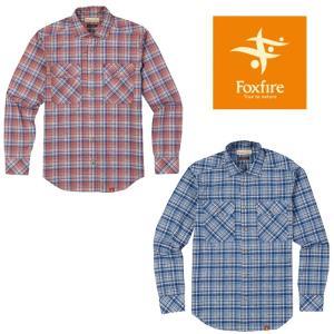フォックスファイヤー SCグラデチェックシャツL/S FXF5212767 SC Gradation Check Shirt L/S メンズ/男性用 シャツ|kompas