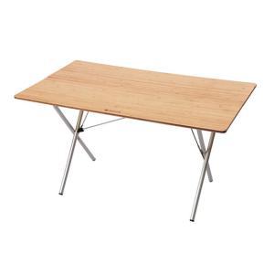 スノーピーク ワンアクションテーブルロング竹 LV-015TR Single Action Table Long Bamboo テーブル|kompas