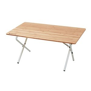 スノーピーク ワンアクションローテーブル竹 LV-100TR Single Action Low Table Bamboo|kompas
