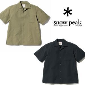 スノーピーク クイックドライアロハシャツ SH-20SU104 シャツ Quick Dry Aloha Shirt  吸水速乾 トップス|kompas