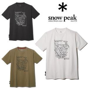スノーピーク グラフィックTシャツ 谷川岳 TT2110-TS02  Tシャツ Graphic Tshirt Mt.Tanigawa 半袖Tシャツ 吸汗速乾 トップス 2021年春夏新作|kompas