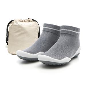 レディースシューズ 超軽量 フラットシューズ オフィスシューズ 「ポケットシューズ」 ポーチに入れ 持ち運び さまざまなシーンで活躍 女性靴(ラインブグレー)|komuellopoketshoes