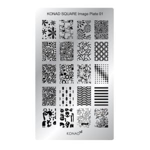 コナド スタンピングネイルアート スクエアイメージプレート01  【KONAD】 スタンピングネイル/スタンプネイル/セルフネイル|konadshop-hero