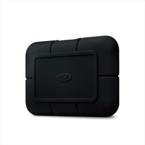 代引不可 LaCie ポータブルSSD 2TB Rugged SSD Pro USB Type-C 防水 防塵 耐衝撃 高速データ転送 ゴムバンパー エレコム STHZ2000800|konan