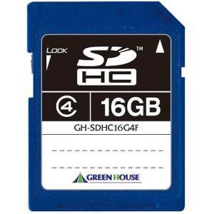 グリーンハウス 転送速度20MB/sのClass4 SDHCカード 16GB GH-SDHC16G4F|konan
