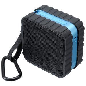 【アウトレット(保証なし)】防水Bluetoothスピーカー 音楽をもっと自由に アウトドア用のポータブルスピーカー ブルー グリーンハウス GH-SPBB130-BL konan