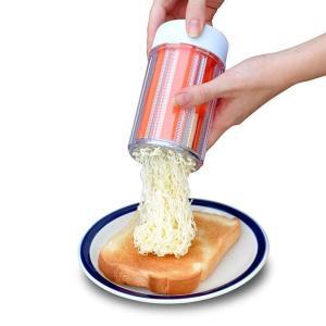 あすつく イージーバターミニ オレンジ ミニサイズ バターフォーマー 食洗機可 カバー付き バター コンパクトサイズ 便利|konan