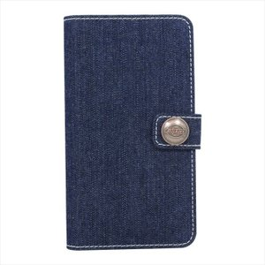 Dickies Book type case 汎用型 手帳型 スマホケース(デニム) ブルー 藤本 M-DK02DE konan