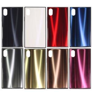 iPhone XS iPhone X 対応 iPhoneXS iPhoneX 5.8インチモデル ケース カバー SQUBE AURORA CASE スキューブ オーロラケース 背面ガラス素材 オーロラ仕様|konan