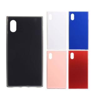 iPhone XS iPhone X 対応 iPhoneXS iPhoneX 5.8インチモデル ケース カバー SQUBE PREMIUM CASE スキューブ プレミアムケース 背面ガラス素材 マグネット装着|konan