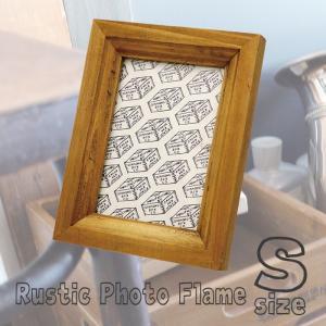 ラスティック フォトフレーム(S)ウッド 写真立て 写真スタンド 壁掛け L版対応 額縁 フレーム 飾り オシャレ H756|konan