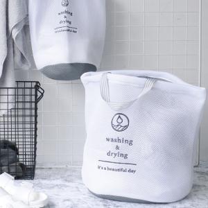 WD ランドリーネット バッグ 洗濯ネット 大容量 トート型 大物洗い ネット 洗濯 ランドリー A254