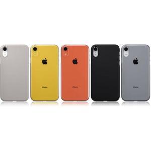 iPhone XR 用 ラバー ケース カバー Air Jacket for iPhone XR 4カラー(ラバーグレー・クリア・ラバーブラック・クリアブラック) パワーサポート PUK-7*|konan