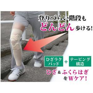 ひざラクパッド付どんどん歩けるサポーター Mサイズ 富士パックス h733m|konan