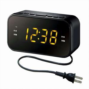 あすつく クロックラジオ AM/FM FMワイドバンド 目覚まし時計 デュアルアラーム コンパクト ブラック WINTECH CR-X1|konan