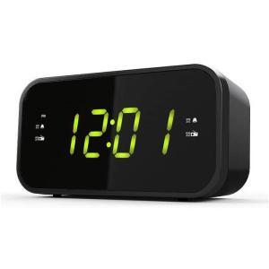 あすつく クロックラジオ AM/FM FMワイドバンド 目覚まし時計 デュアルアラーム コンパクト ブラック WINTECH CR-X1GN|konan