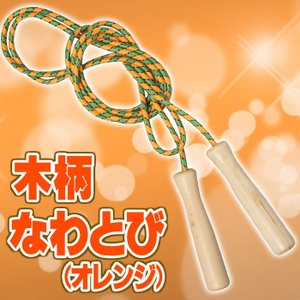 木柄なわとび(オレンジ) 縄跳び 体育 体操 授業 トレーニング 外遊び 玩具 おもちゃ アーテック 1365|konan