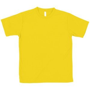 ATドライTシャツ イエロー Mサイズ Tシャツ 半袖Tシャツ 普段着 ファッション 運動 スポーツ ユニフォーム アーテック 38361|konan
