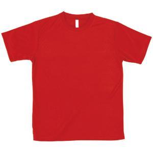 ATドライTシャツ レッド Lサイズ Tシャツ 半袖Tシャツ 普段着 ファッション 運動 スポーツ ユニフォーム アーテック 38374 konan
