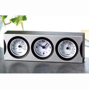 温湿度計付クロック 温度計 湿度計 時計 3機能 便利 置時計 テーブル 卓上 日用品 インテリア 雑貨 アーテック 71180