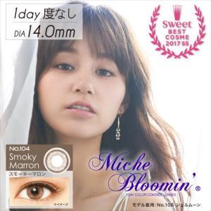 Miche Bloomin ミッシュブルーミン クォーターヴェールシリーズ スモーキーマロン 度無し 1Day ワンデー 10枚入 ミッシュブルーミン 399000929 konan