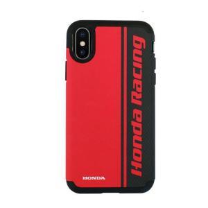 iPhone XS iPhone X 対応 iPhoneXS iPhoneX ケース カバー HONDA RACING ホンダレーシング 公式ライセンス品 バックカバー ハードケース RED レッド konan