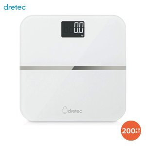 ボディスケール 最大200kgまで のるだけではかれる 測定値が約20秒間表示 ホワイト ドリテック BS-200WT|konan