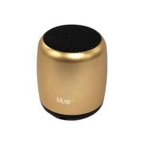MUNE Bluetooth ワイヤレススピーカー(ゴールド)ポータブルスピーカー 高音質 音楽 Music コンパクト オシャレ グルマンディーズ MUNE-07GD konan